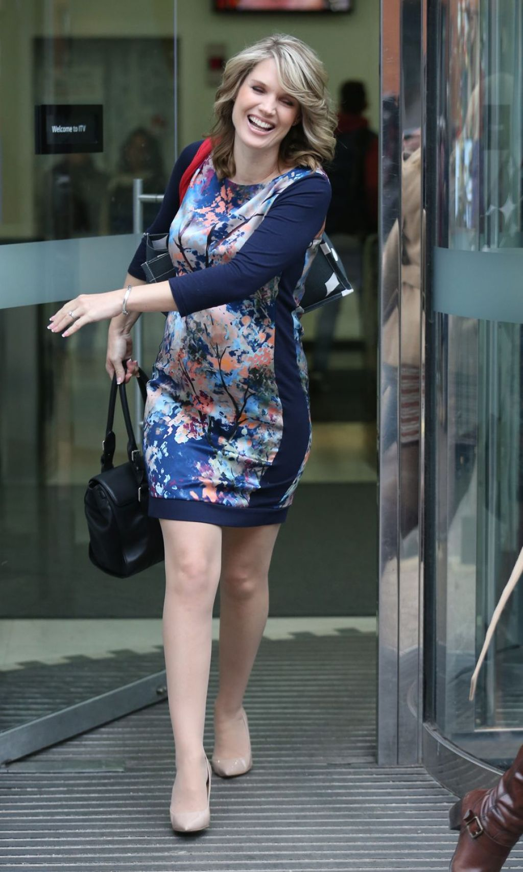 Charlotte Hawkins Style - Leaving the ITV Studios in London - December 2014