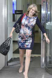 Charlotte Hawkins Style - Leaving the ITV Studios in London - December 2014