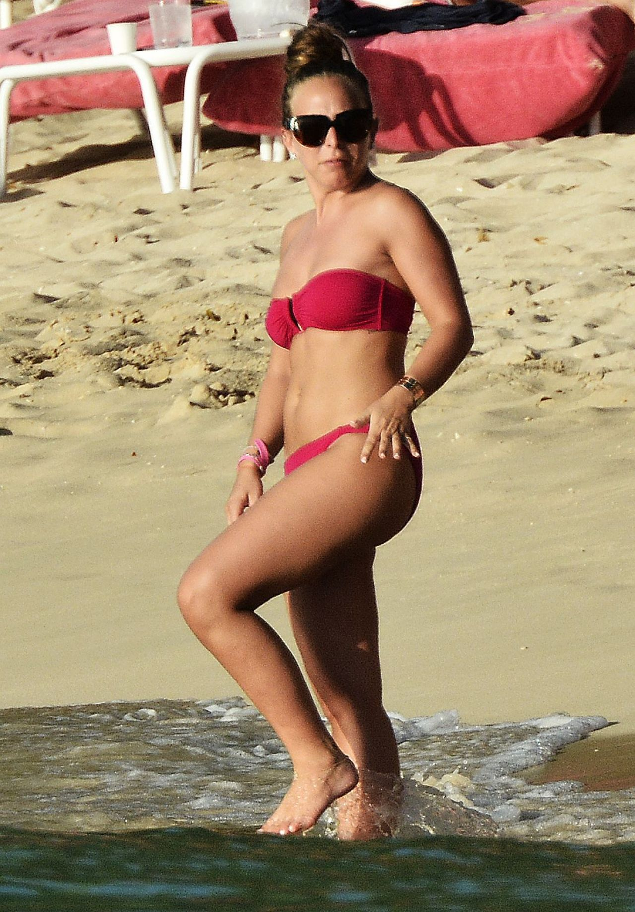Chloe Green Bikini Candids - Beach in Barbados - December 2014
