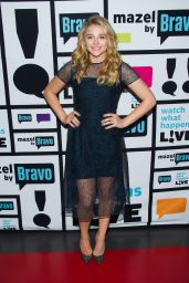 Chloe Moretz Tapes an Appearance on Watch What Happens Live - December 2014
