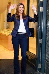 Cindy Crawford Style - OMEGA Oxford Street Flagship Boutique Opening in London