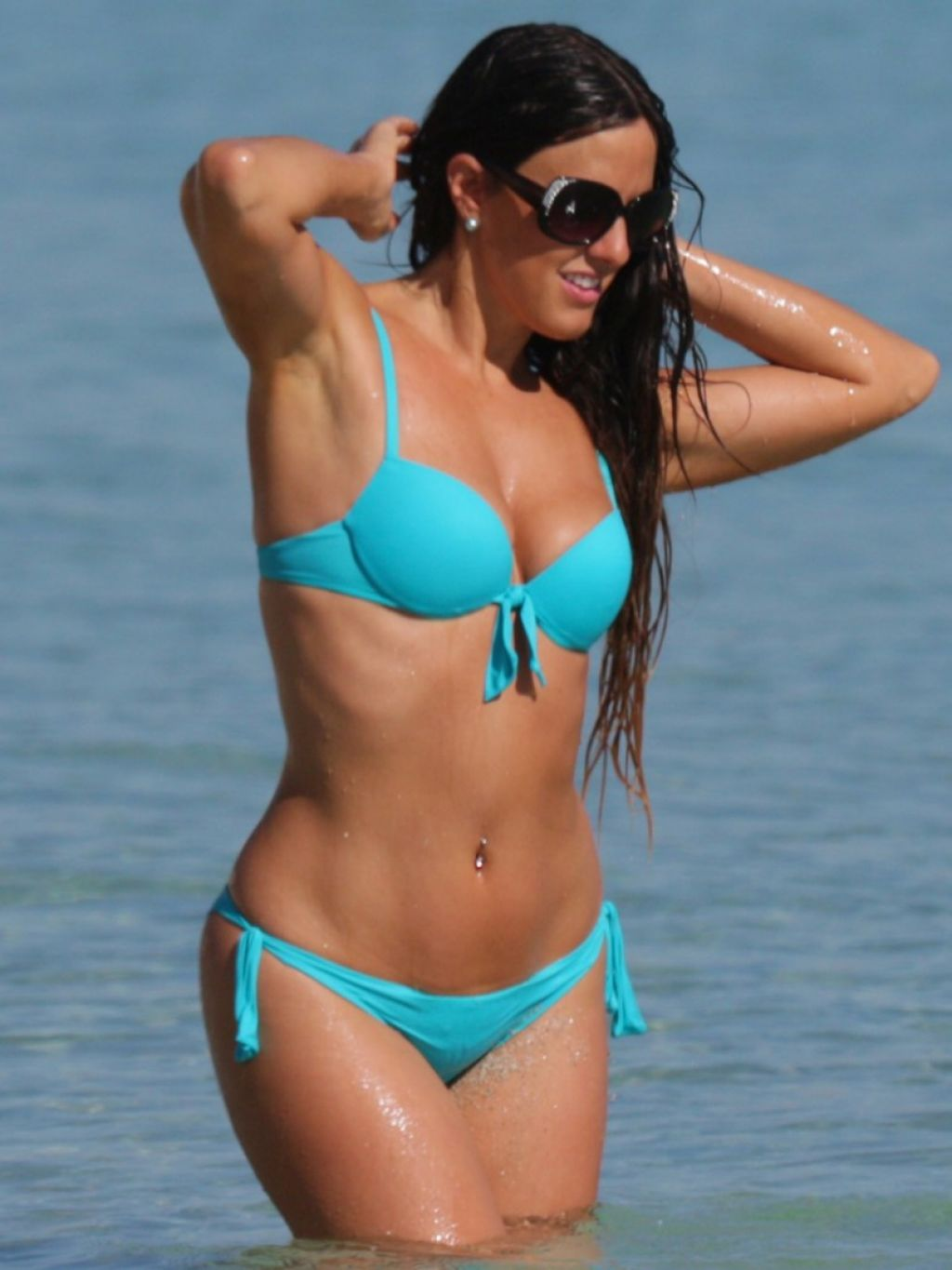 Claudia Romani Wearing a Bikini in Miami - December 2014