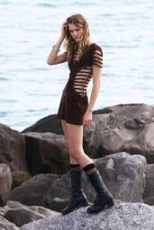 Constance Jablonski - Photoshoot at a Beach in Miami, Dec. 2014