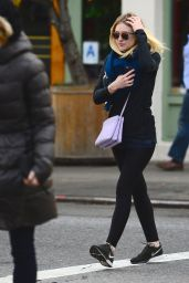 Dakota Fanning in Leggings - Out in New York, December 2014