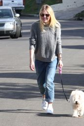 Dakota Fanning - Walking Her Dog in Los Angeles, Dec. 2014