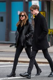 Dakota Johnson and Boyfriend Matthew Hitt  - La Colombe Cafe in New York, Dec. 2014