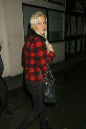Denise Van Outen Night Out Style - at Dukebox Night Club in London - Dec. 2014