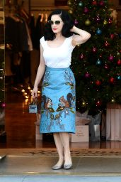 Dita Von Teese Style - Shops at Vivienne Westwood in Los Angeles - Dec. 2014