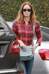 Emily Blunt in Ripped Jeans- Shopping in Los Angeles, December 2014