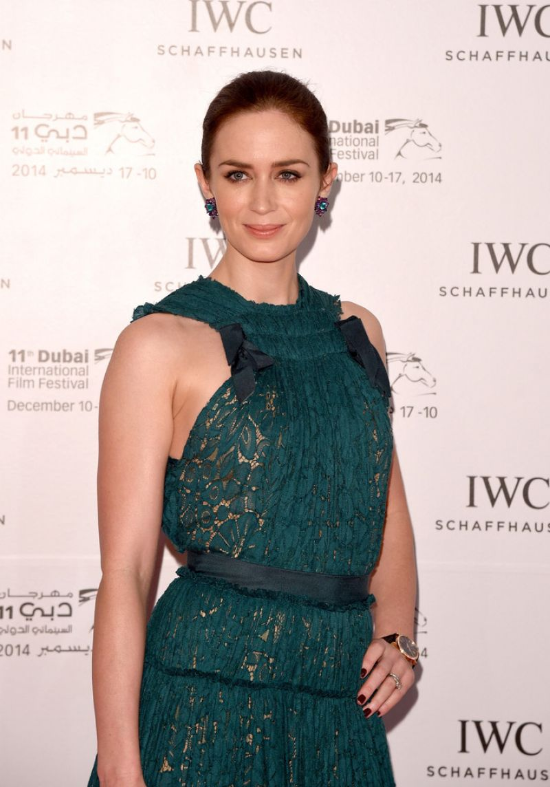 Emily Blunt on Red Carpet - 2014 Dubai International Film Festival
