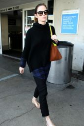 Emily Blunt Street Style - LAX Airport, December 2014