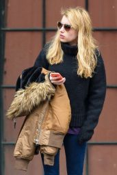 Emma Roberts Leaving Her Hotel in New York City, December 2014