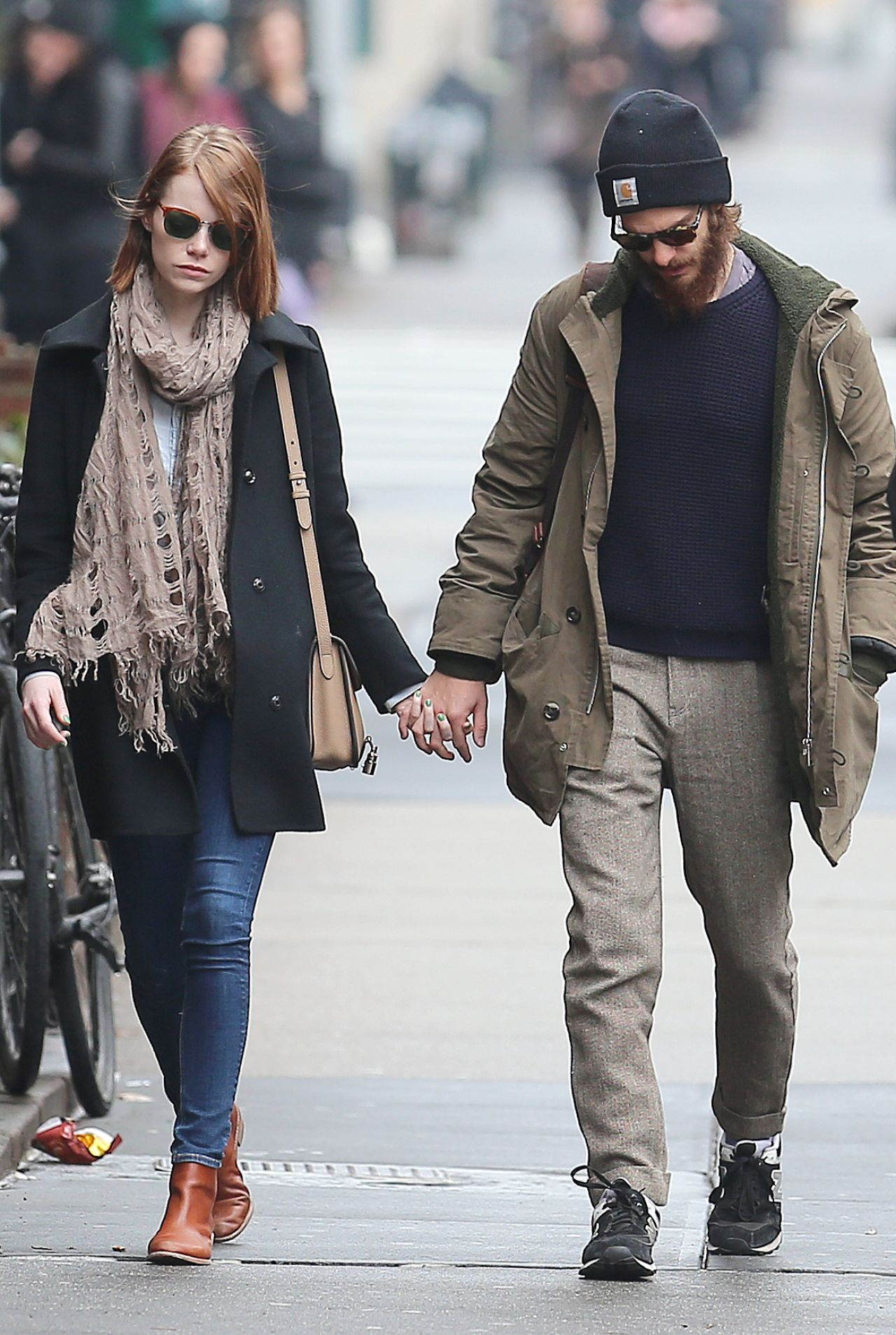 Emma Stone and Andrew Garfield - Out in New York City, December 2014