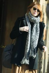 Emma Stone Street Style - Out in New York City, December 2014