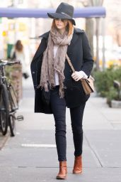 Emma Stone Style - Out in New York City, December 2014