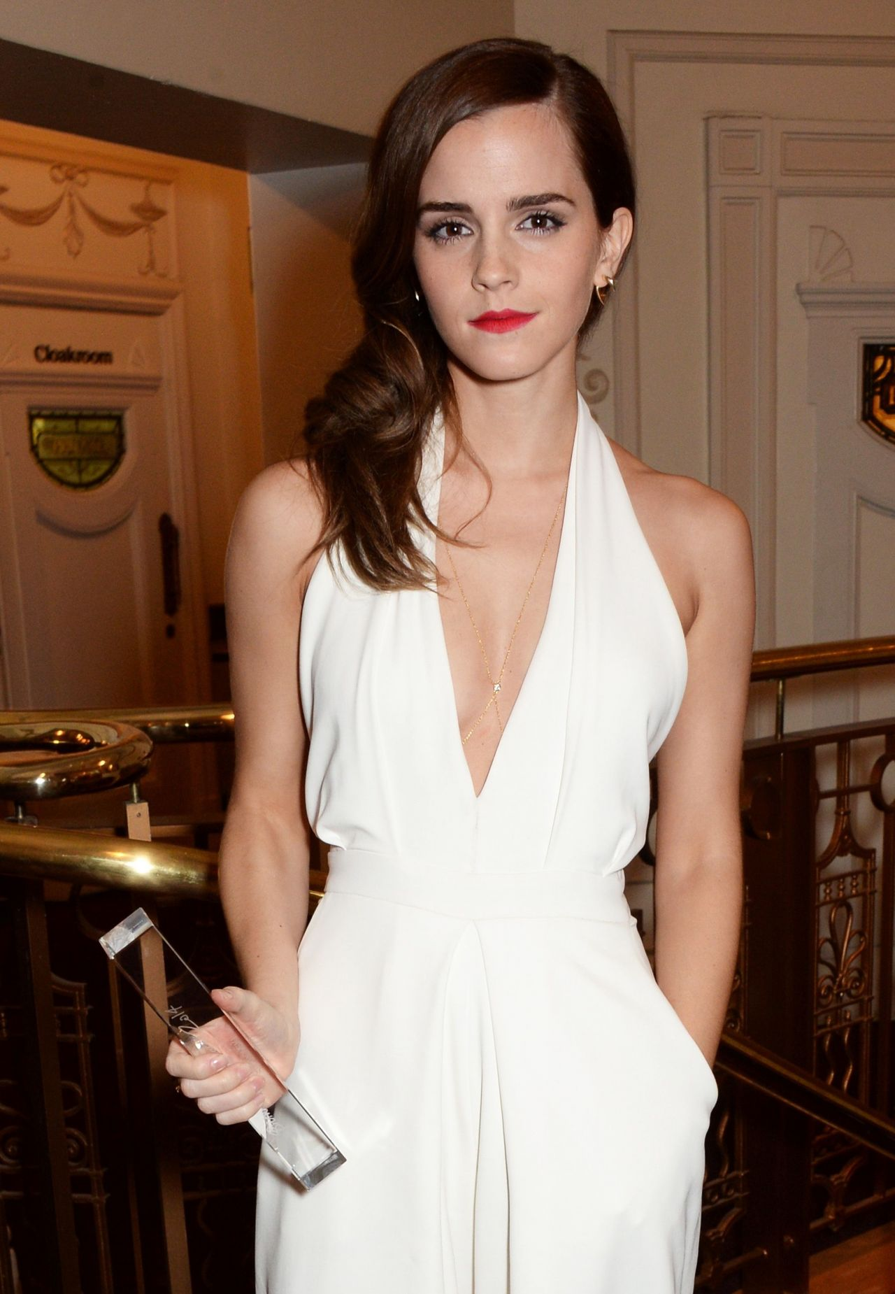 Emma Watson With a British Fashion Award -  2014 British Fashion Awards at London Coliseum
