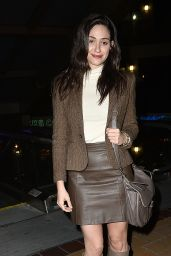 Emmy Rossum Night Out Style - Out in Los Angeles, December 2014