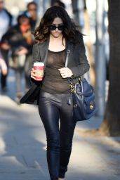 Emmy Rossum Street Fashion - Out in Los Angeles, Dec. 2014