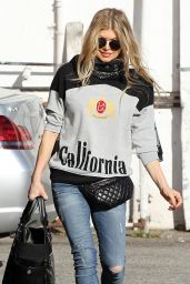 Fergie - Out for Breakfast in Brentwood - December 2014