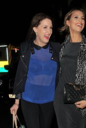Ferne McCann Night Out Style - With a Friend at The Riding House Cafe, Dec. 2014