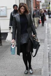 Gemma Arterton - Arrives to the Adelphi Theatre in London - December 2014