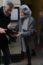 Gemma Arterton Signing Autographs - Adelphi Theatre in London, Dec. 2014
