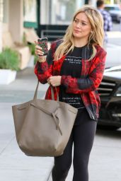 Hilary Duff Booty in Tights - Out in Beverly Hills, December 2014