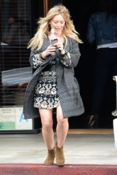 Hilary Duff in a Dress - Out in West Hollywood - Dec. 2014
