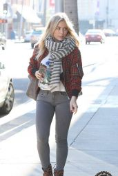 Hilary Duff Street Style - Out in Beverly Hills, December 2014