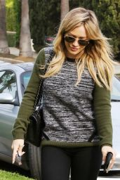 Hilary Duff Street Style - Out in L.A. - December 2014