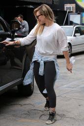 Hilary Duff - The Sweat Spot Dance Studio, December 2014