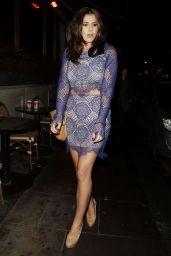 Imogen Thomas Leggy in Mini Dress - Sanctum Soho Hotel Christmas 2014 Party