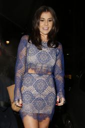 Imogen Thomas Leggy in Mini Dress - Sanctum Soho Hotel Christmas 2014 Party