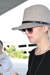 Jennifer Lawrence at LAX Airport - December 2014