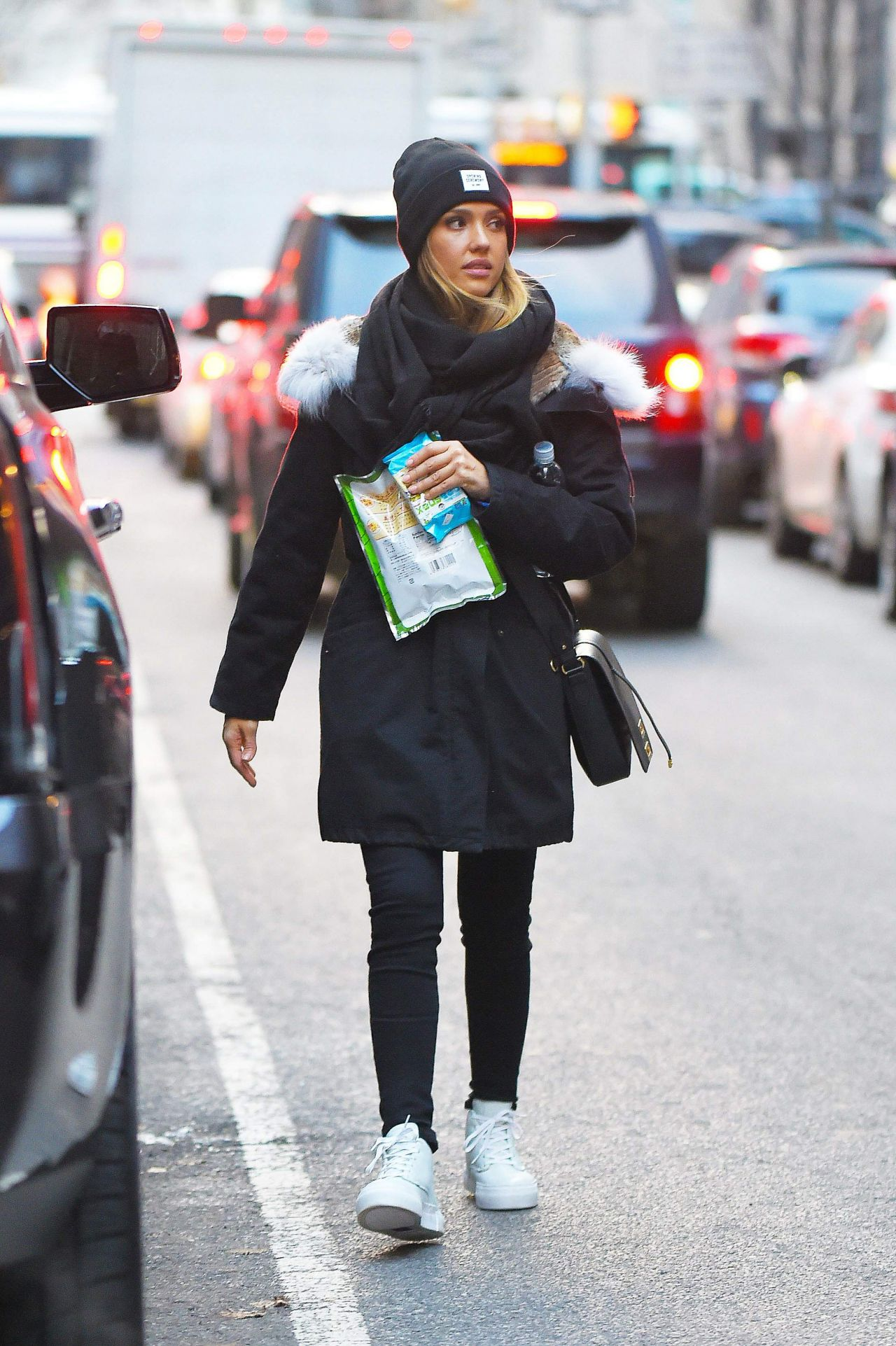 Jessica Alba Street Style Out In New York City