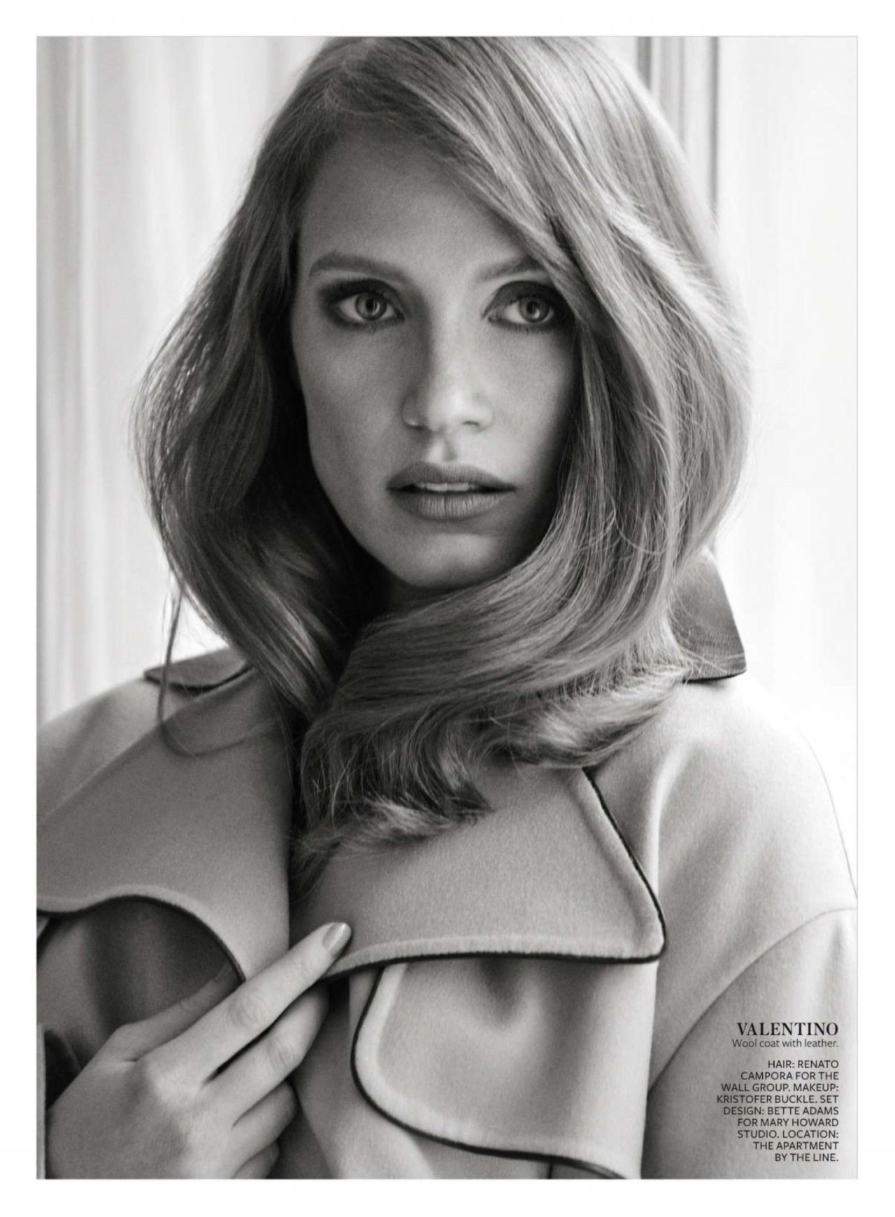 Jessica Chastain 2015 Celebrity Photos Instyle Magazine January Issue Page 1