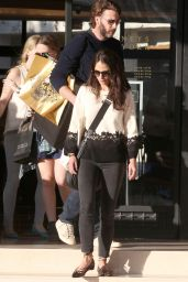 Jordana Brewster Streetstyle - Leaving Barney