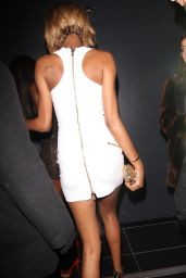 Jourdan Dunn Night Out Style - at The Bonbonniere Angel Party at Bonbonniere London Nightclub - Dec. 2014
