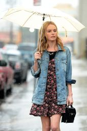 Kate Bosworth Street Style - Leaving a Meeting in Downtown in Los Angeles, December 2014