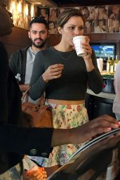 Katharine McPhee - Showing Legs at a Coffee Shop in Los Angeles - December 2014