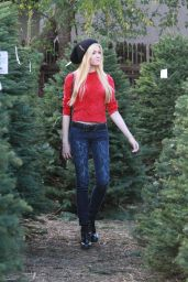 Katherine McNamara - Christmas Tree Shopping in Los Angeles, December 2014