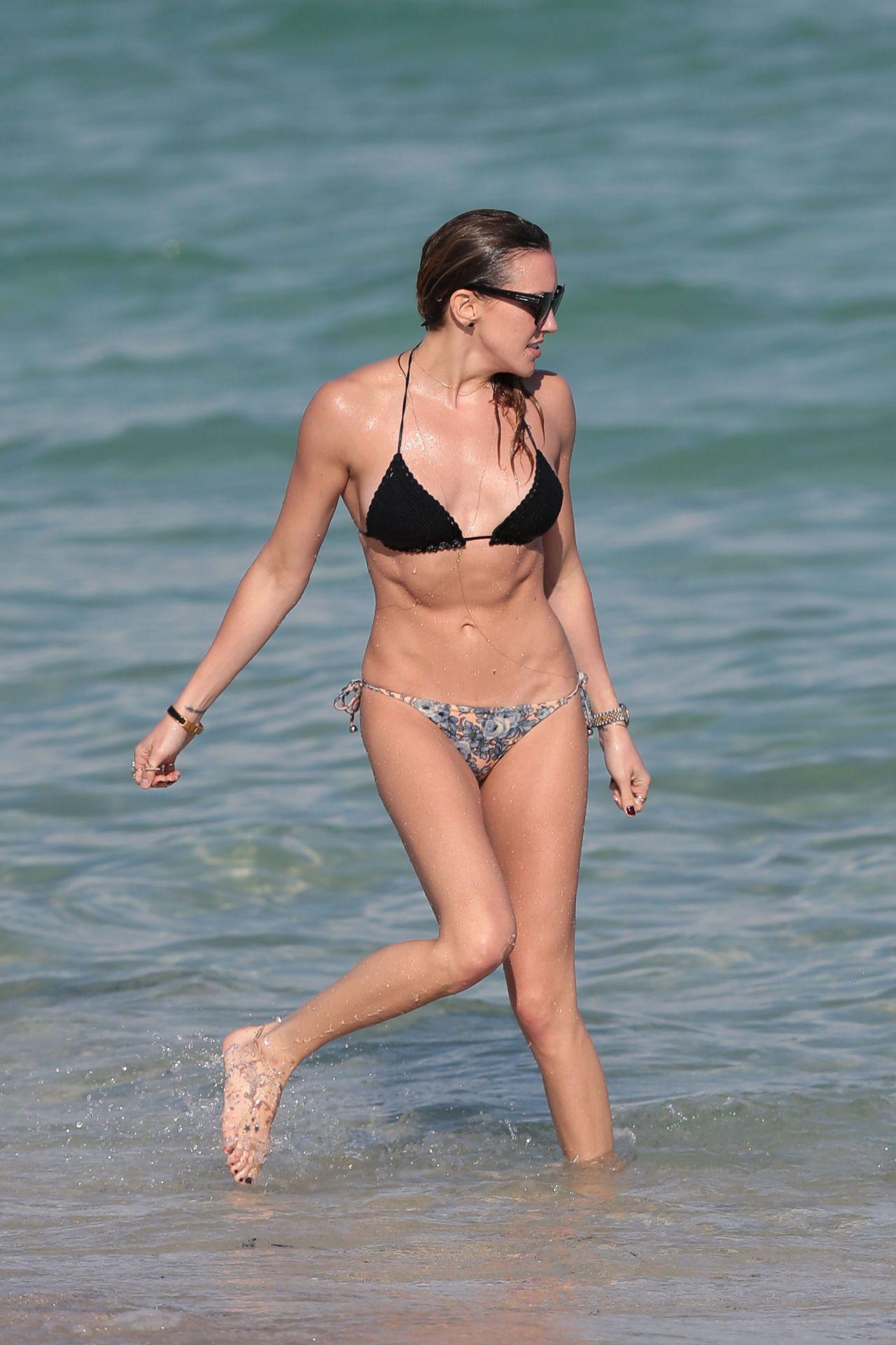 Katie Cassidy Bikini Candids At A Beach In Miami