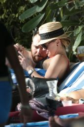 Katie Cassidy in a Bikini Top at a Pool in Miami - December 2014
