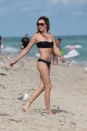 Katie Cassidy in Bikini at a Beach in Miami - December 2014