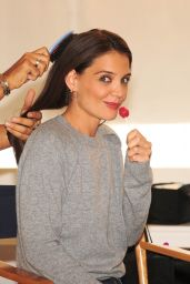 Katie Holmes - Getting Ready For a Photoshoot in Los Angeles, Dec. 2014