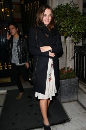 Keira Knightley Night Out Style - at a Private Party in London - December 2014