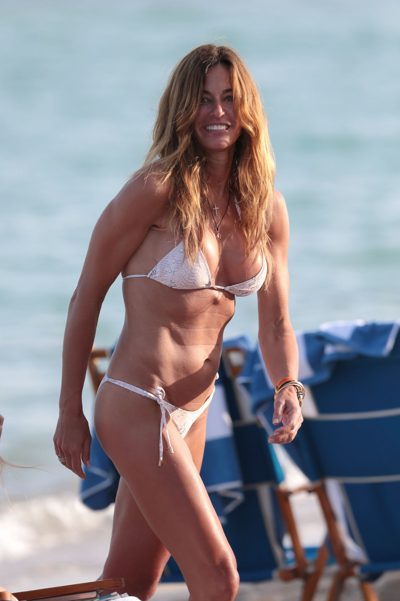 Kelly Bensimon Bikini Photos - Beach in Miami, December 2014