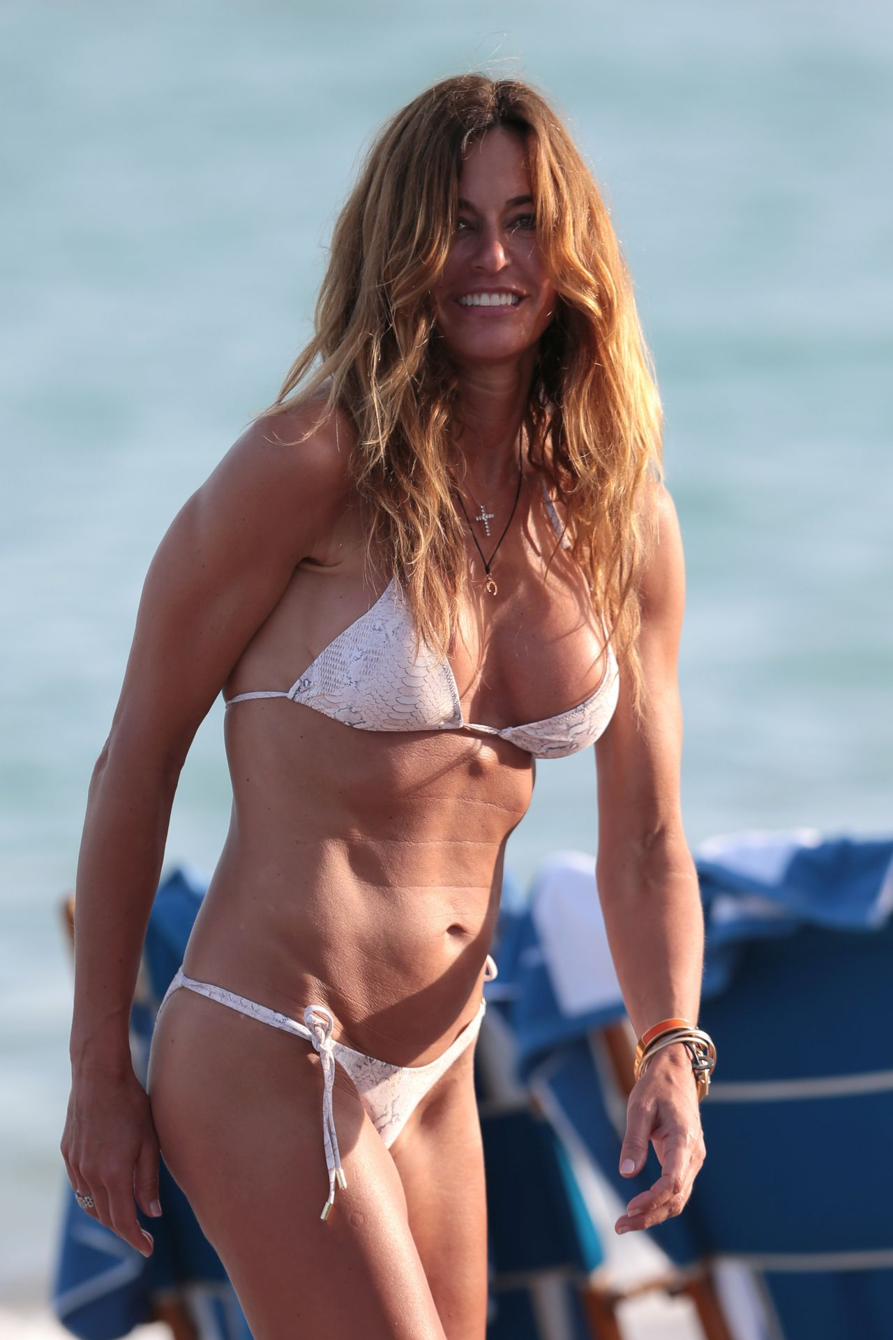 Kelly Bensimon in White Bikini in Miami Pic 20 of 35