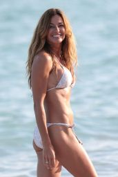 Kelly Bensimon Bikini Photos - Beach in Miami, December 2014