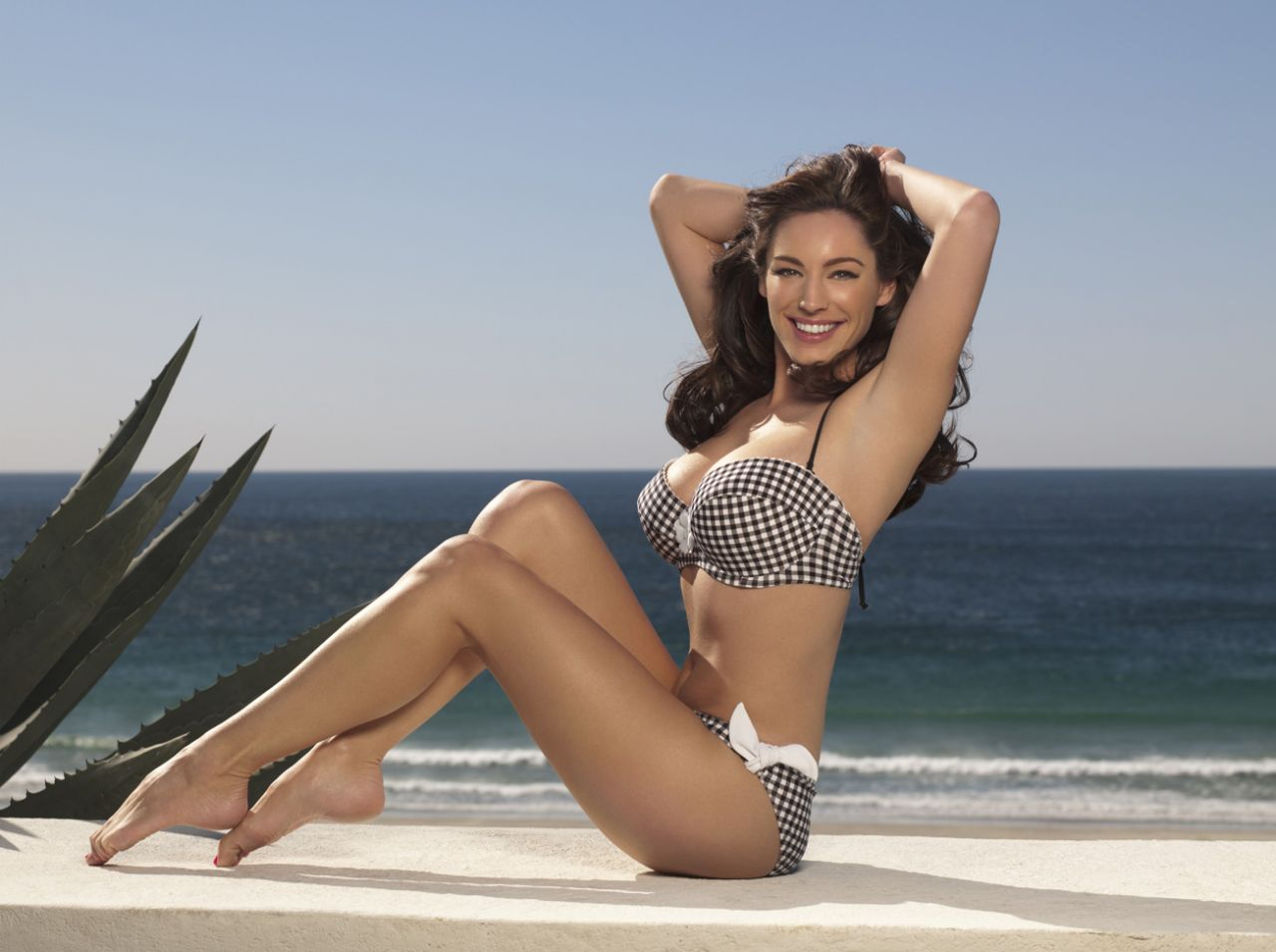 Kelly Brook Bikini Photoshoot - New Look Swimwear, April 2014